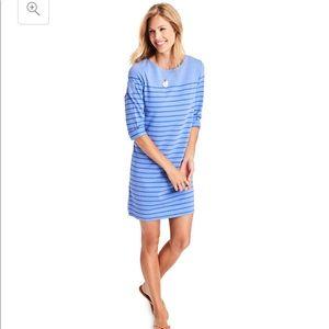 Vineyard Vines Blue Long-Sleeve Stripe Dress NWT
